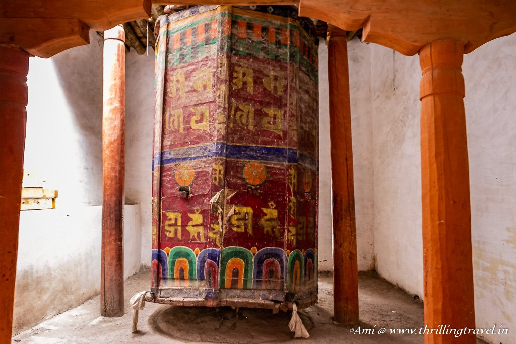 Ancient Prayer Wheel at Hemis Monastery