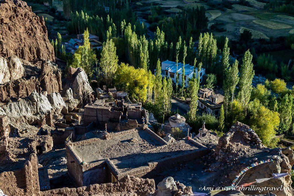 Ruins of Basgo Castle in Ladakh