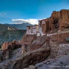 Getting close to Basgo Monastery in Leh