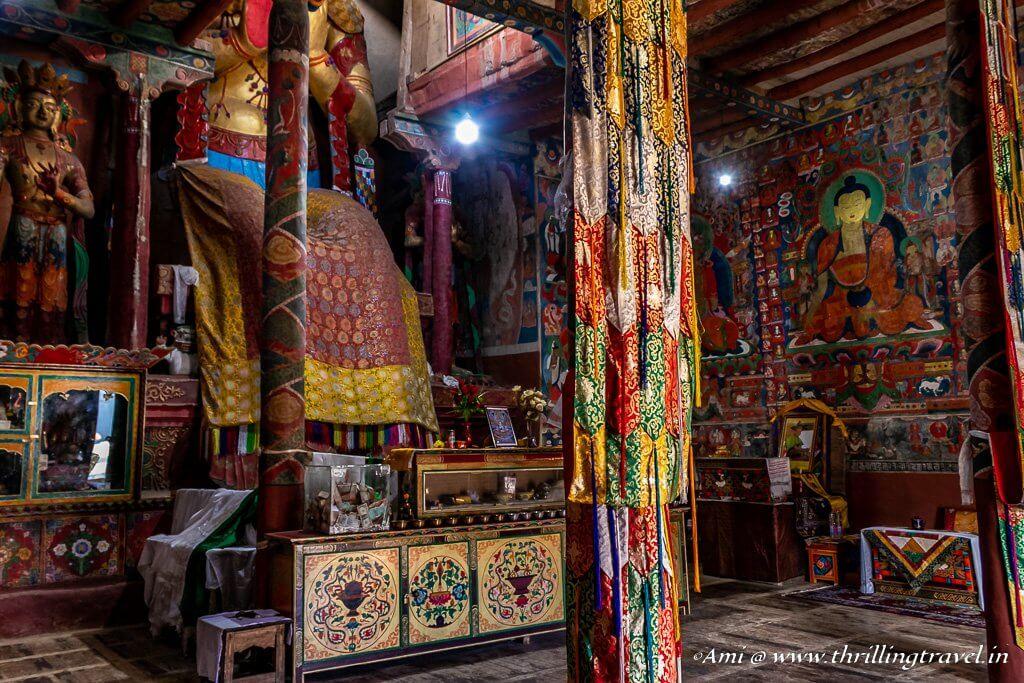 Inside Chamba Lhakhang at Basgo
