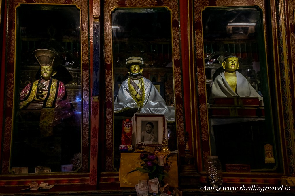 Statues of the key monks of Hemis Monastery