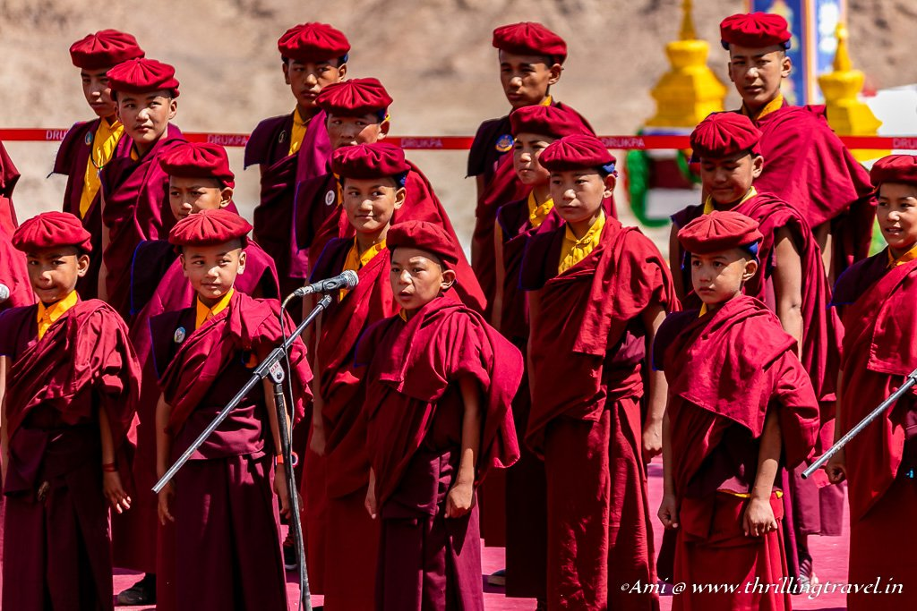 Little monks singing at Naropa Festival