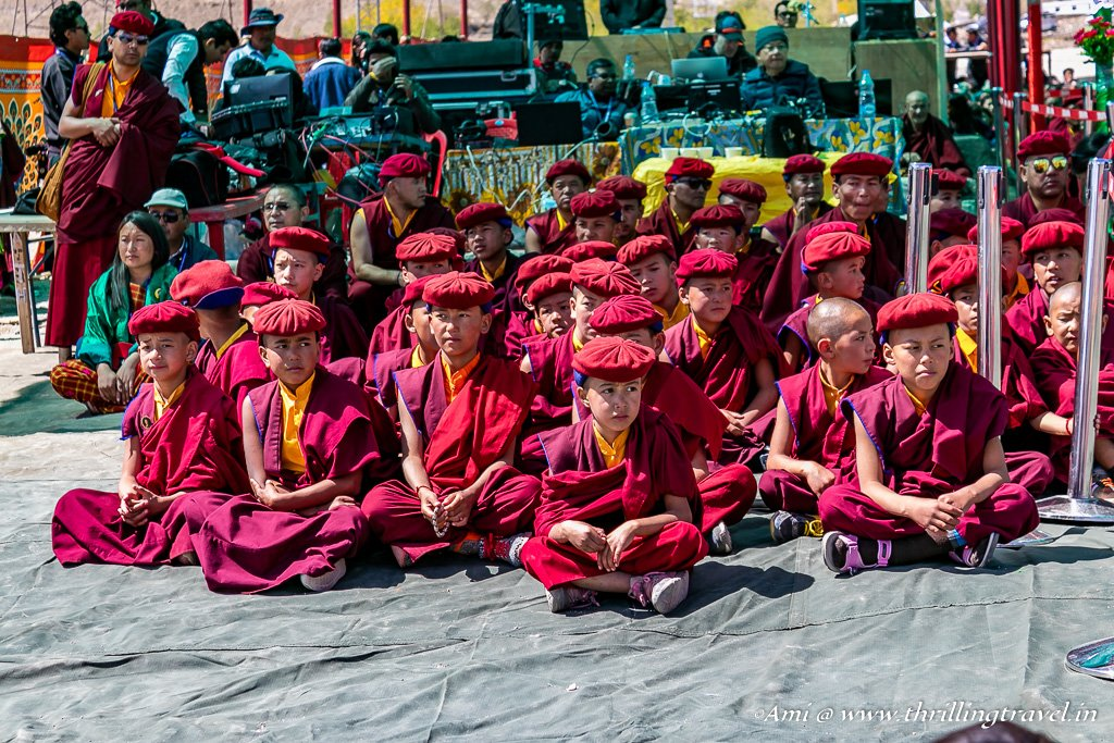 Monk Kids waiting for the Naropa Festival to start