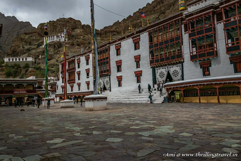 Main courtyard of Hemis Monastery, Ladakh