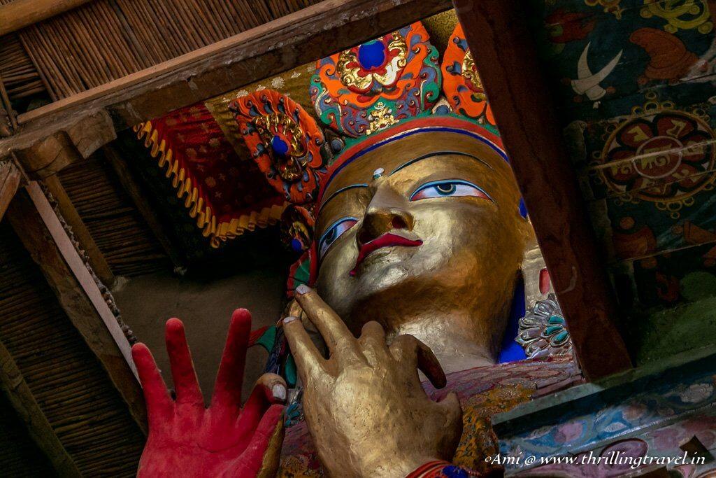 Maitreya Buddha in Chamba temple, Basgo