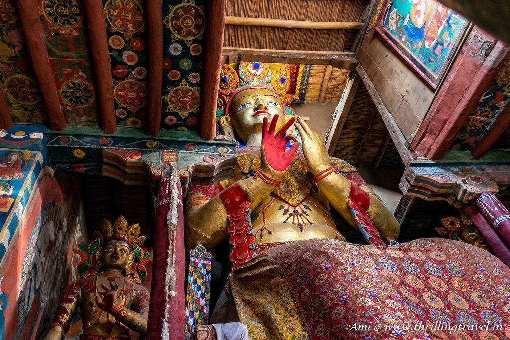 Maitreya Buddha in Chamba Temple, Basgo Gompa