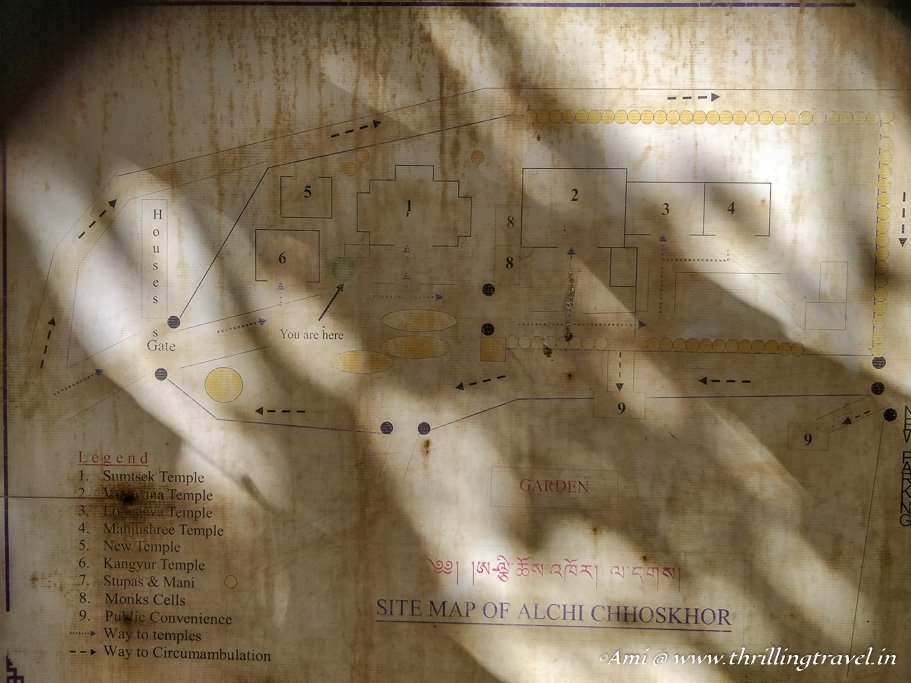 Map of Alchi Monastery, Ladakh