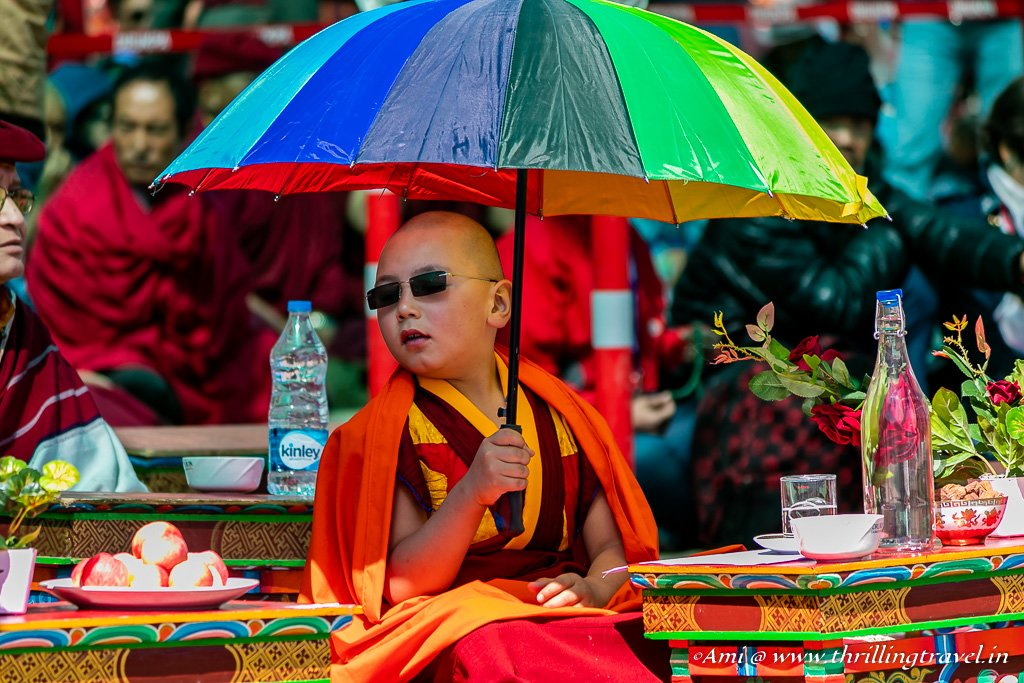 One of the Young Monk Dignitaries at Naropa Festival