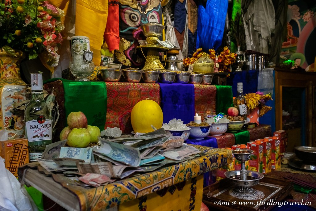 Offerings to the protector of Hemis Monastery