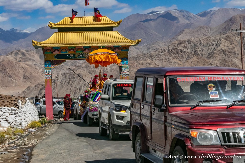 Procession from Hemis Monastery