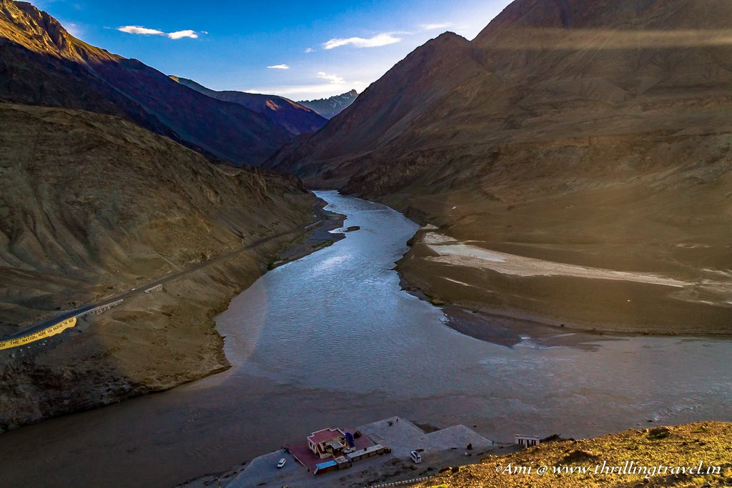 Sunset at the Indus-Zanskar Confluence