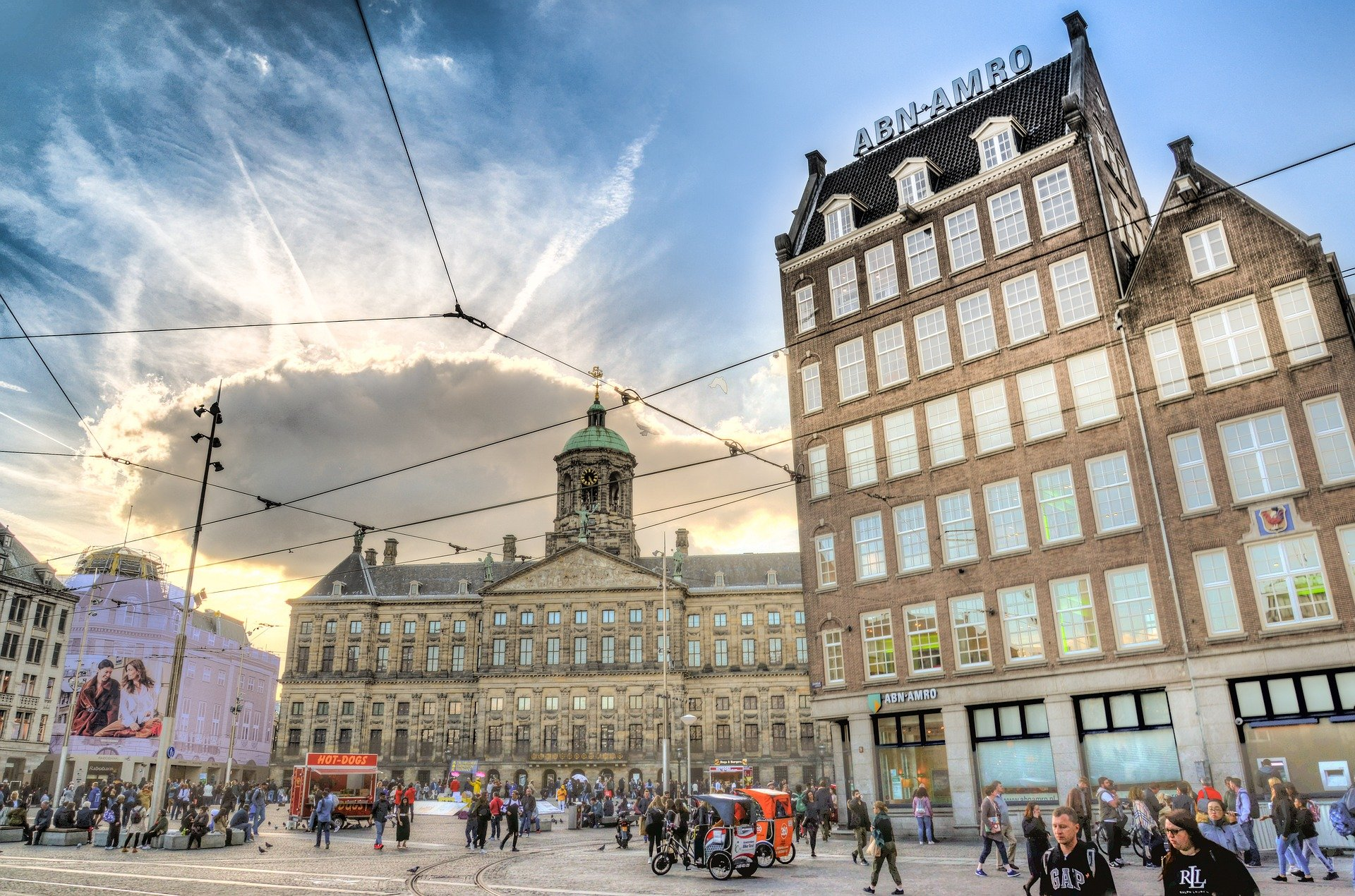 Amsterdam Attractions - Dam Square with the Royal Palace