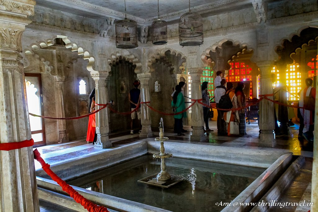 The fountains of Badi Mahal
