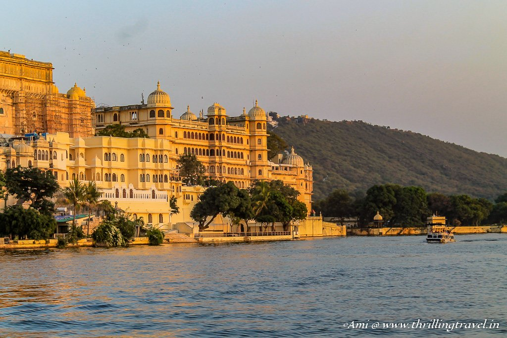 City Palace Udaipur along Lake Pichola