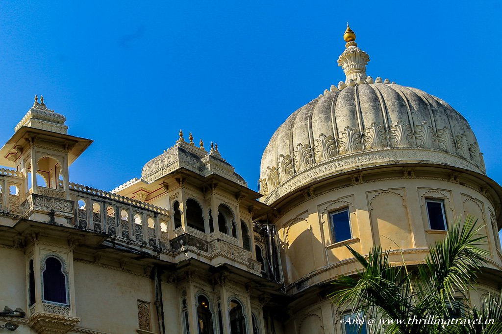 The Domes and Spires of the City Palace that can be seen from various parts of Udaipur