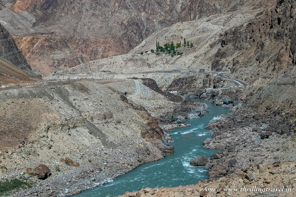 Following Indus in Ladakh to Dah Hanu Village