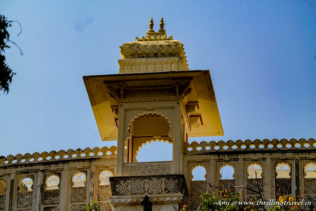 One of the many Jharokhas of City Palace Udaipur