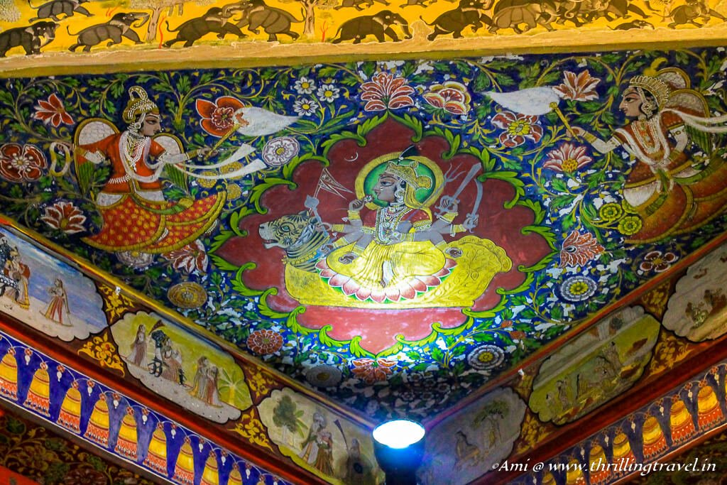 Ceiling of Krishna Vilas