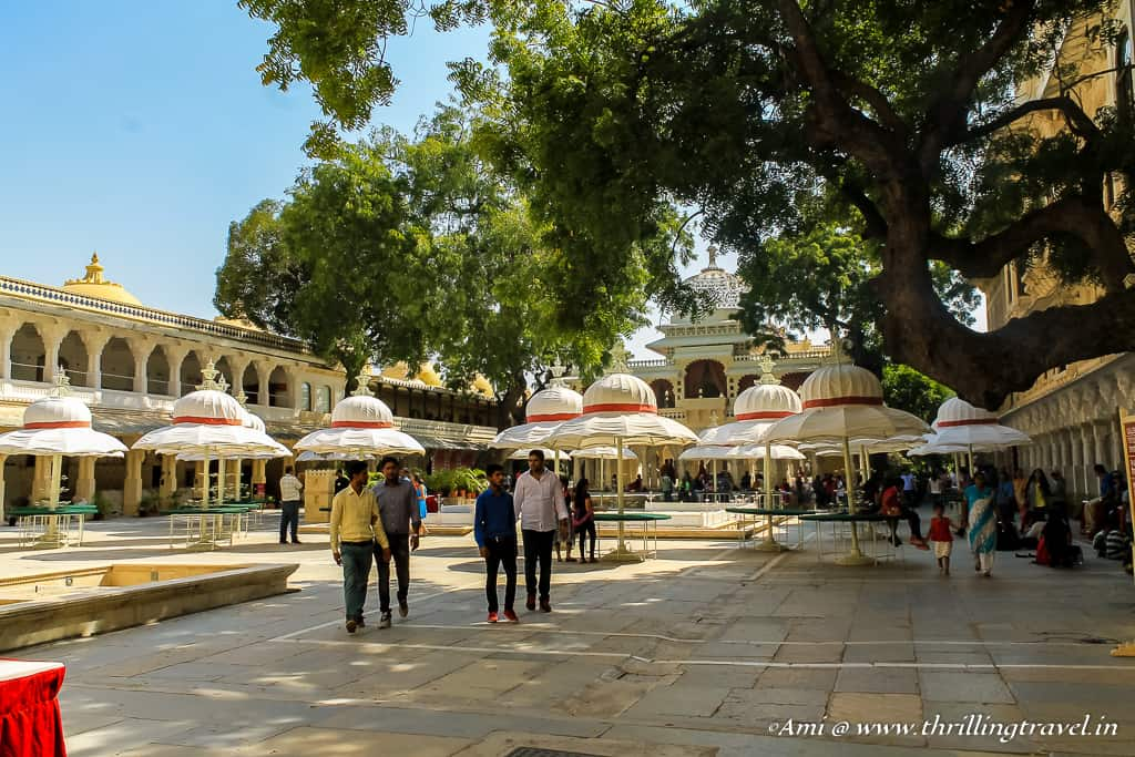 Lakshmi Chowk in City Palace Udaipur