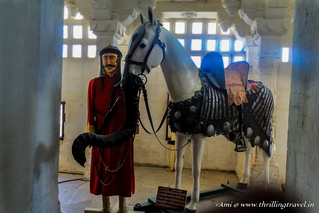 Statue of Maharana Pratap with Chetak