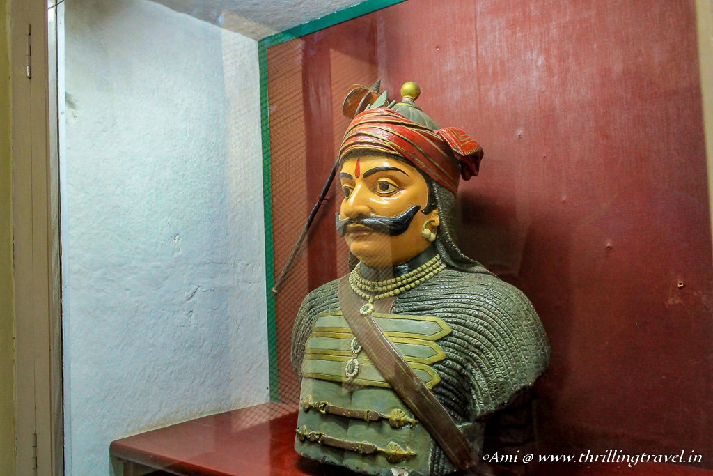 Statue of Maharana Pratap in City Palace, Udaipur