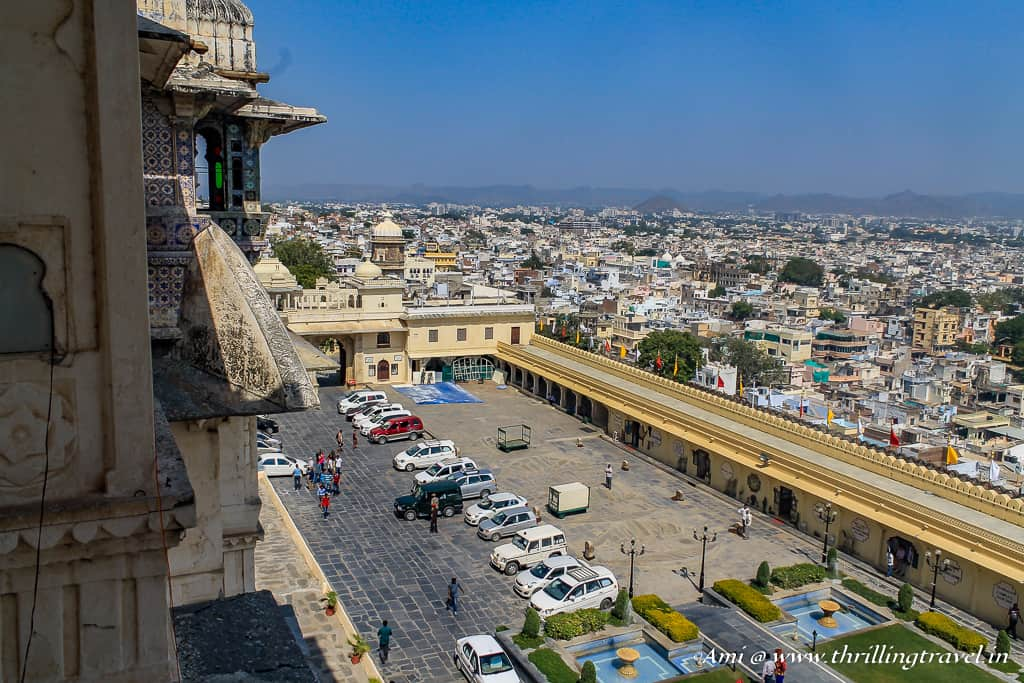 Manek Chowk as seen from the upper levels of City Palace