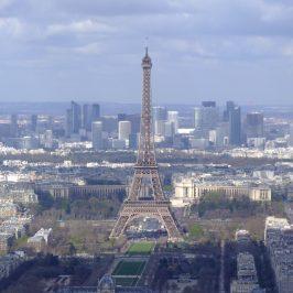 Eiffel Tower as seen from Tour Montparnase
