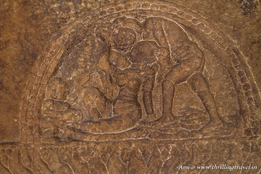 Erotic carvings of Lad Khan Temple