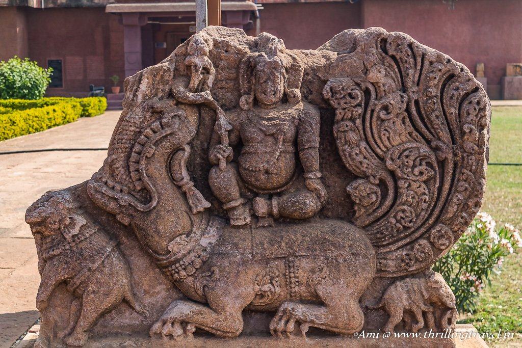 Excavated Sculpture outside Archaelogical Museum, Aihole