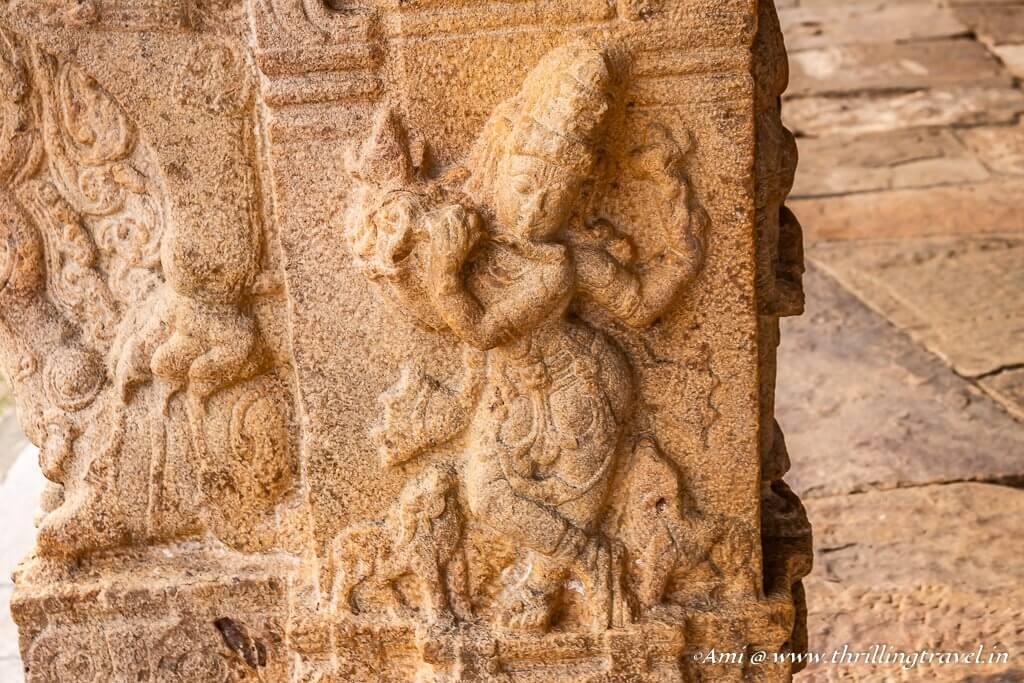 Krishna on pillars of Ranganathaswamy temple