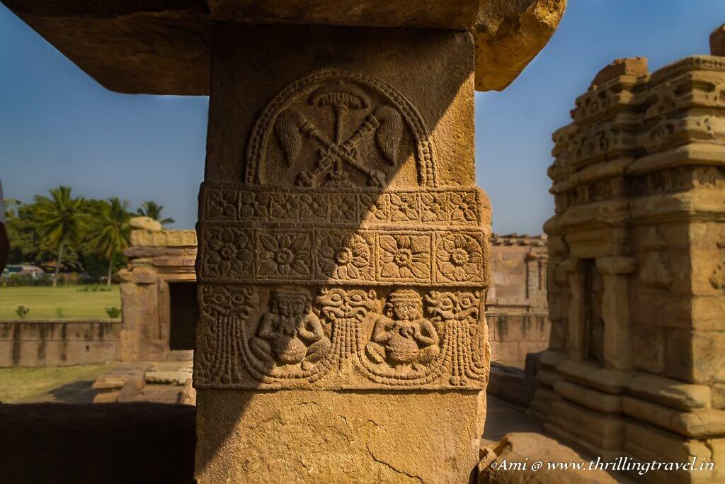 Pillar Carvings of Ladkhan Temple
