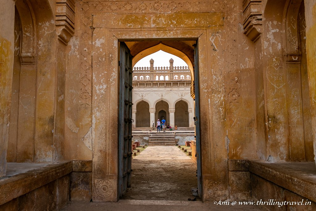Can you spot the intricate carvings around the gateway? Jamia Masjid, Gandikota