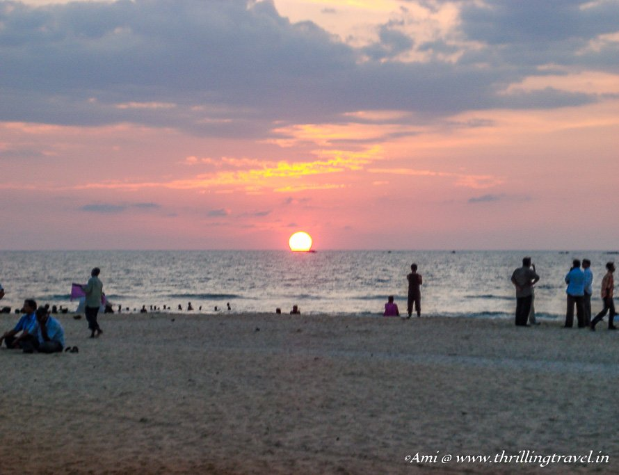 Sunset Destinations in Karnataka - Malpe Beach, Udupi