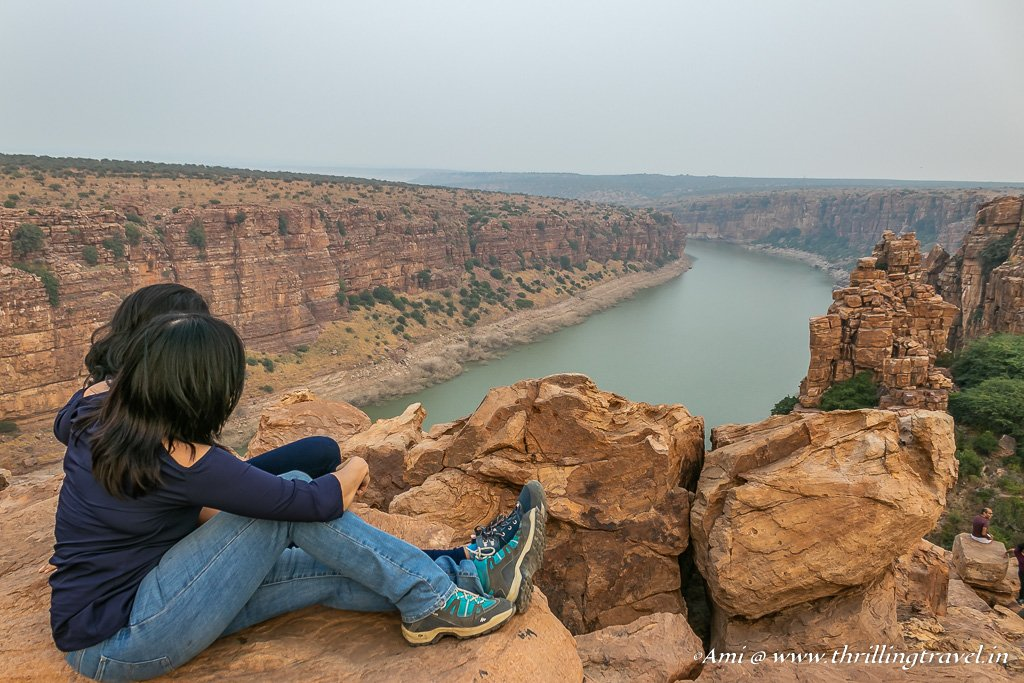 Enjoying the colors of Gandikota at the Penna River View Point