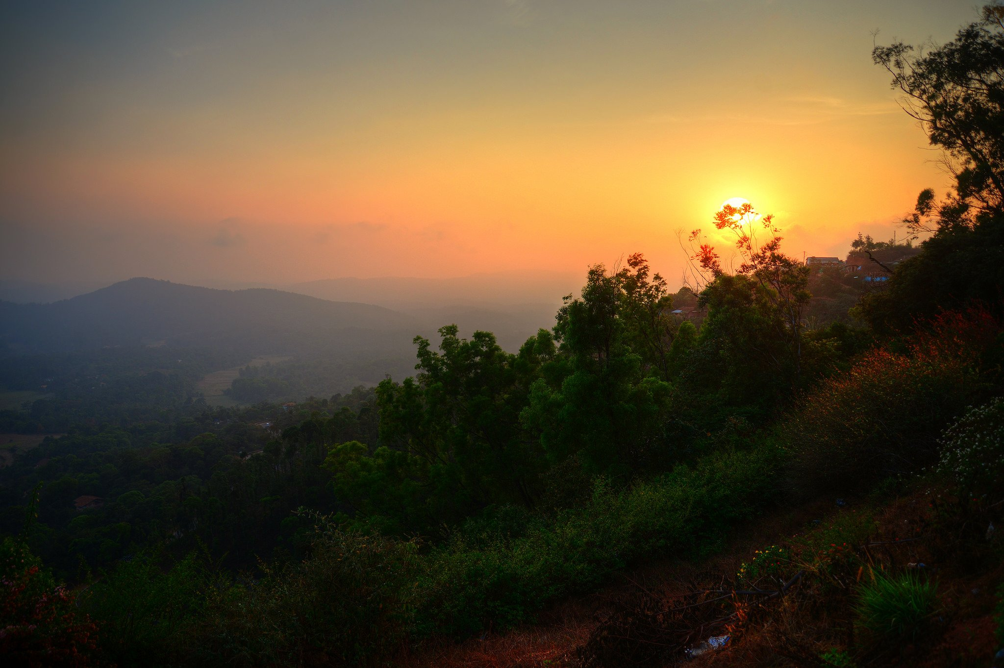 Sunset at Raja's Seat, Coorg