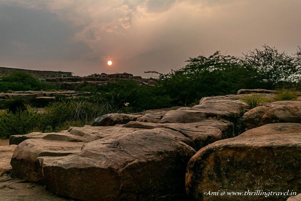 Sunset over the Gandikota Rocks