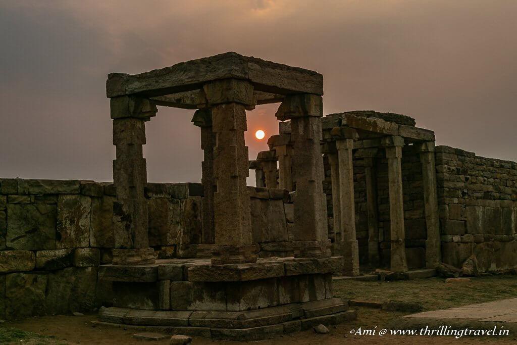 Sunset over Ranganathaswamy temple, Gandikota