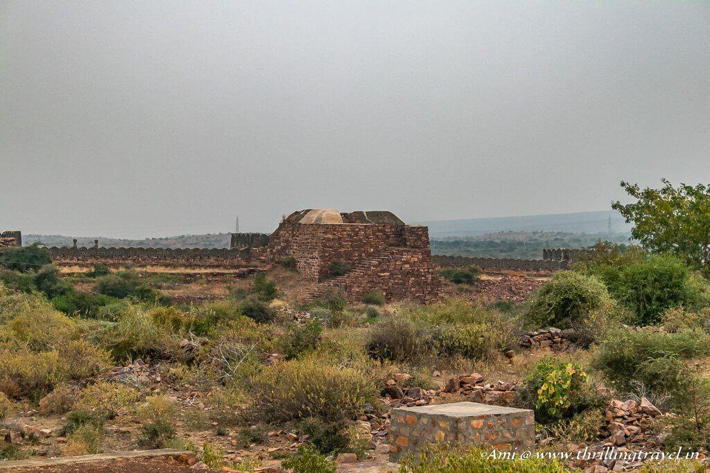 Part of the fort near Rayalacheruvu lake