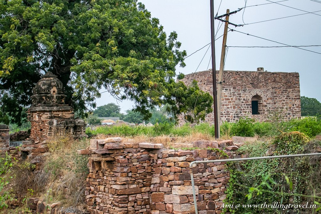 Water Tank and aqueducts in Gandikota Fort.