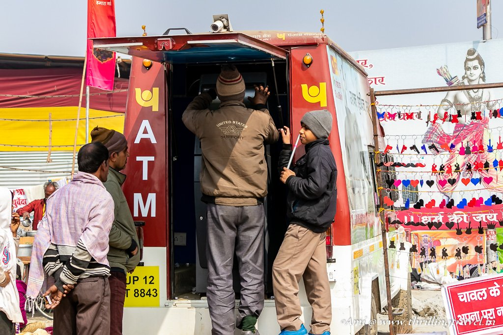 Mobile ATMs at Kumbh Mela