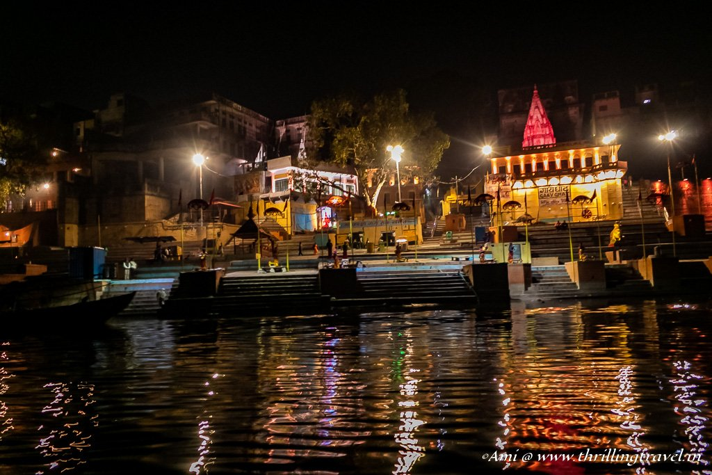 Ganga Ghat at night, Varanasi