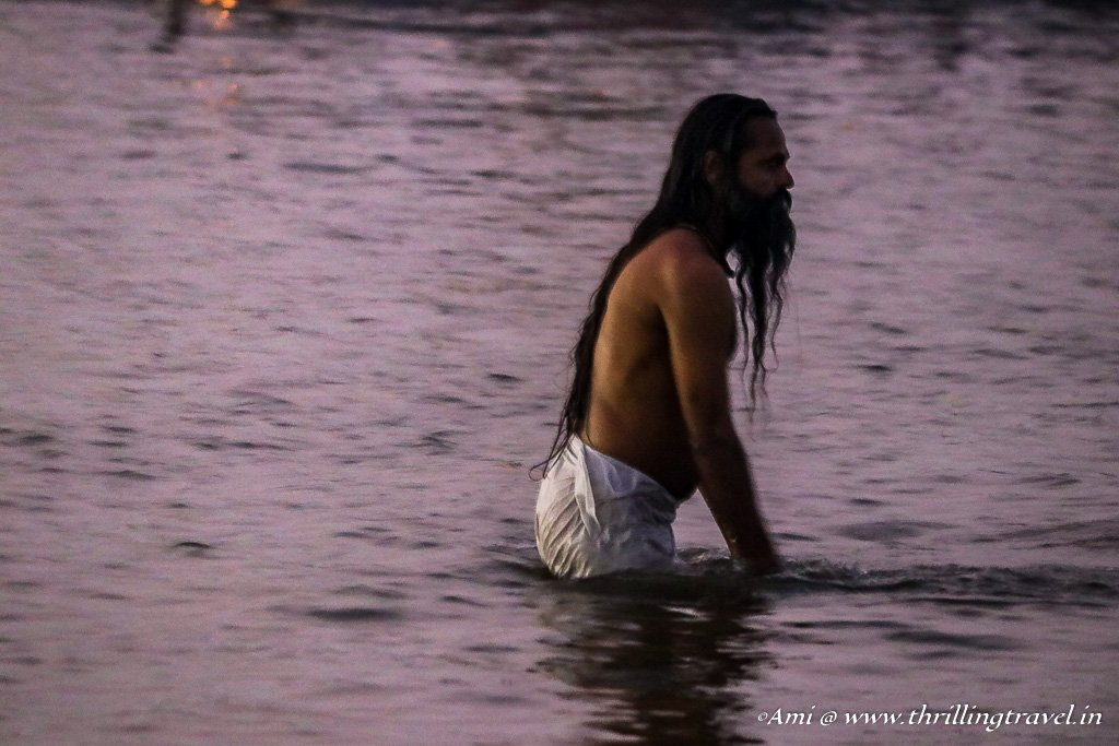 Holy Dip at the dawn of Mauni Amavasya - one of the auspicious days.