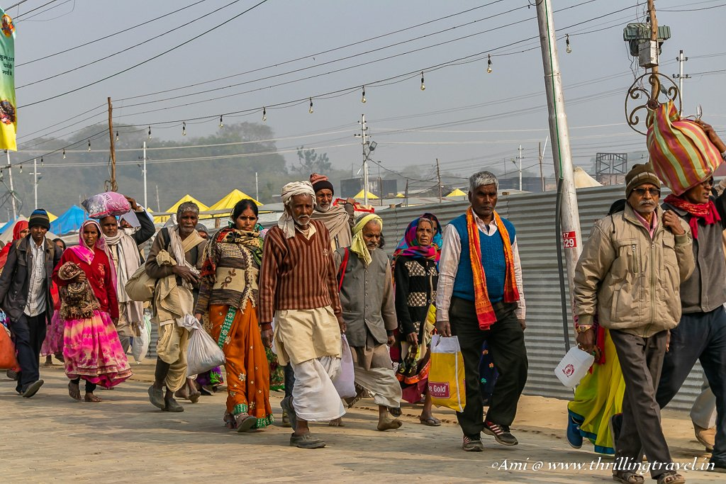 People from all walks of life arrive at Kumbh Mela
