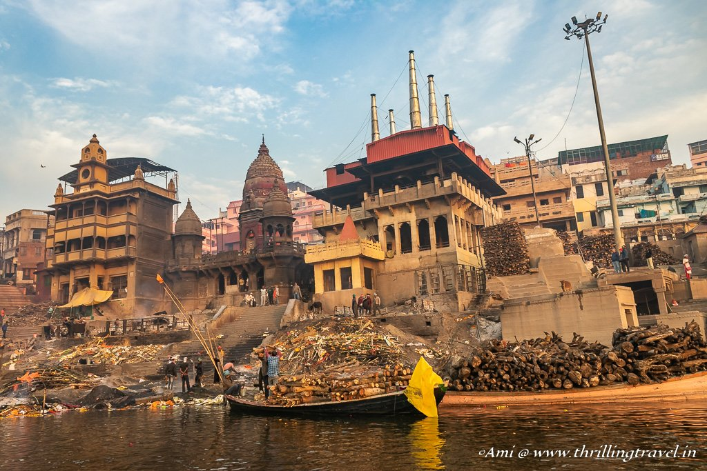 Manikarnika Ghat in Varanasi - the main cremation ghat.