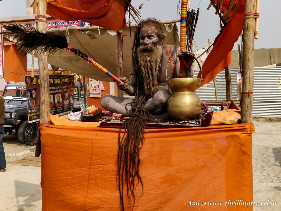 Naga Sadhu at the 2019 Kumbh Mela
