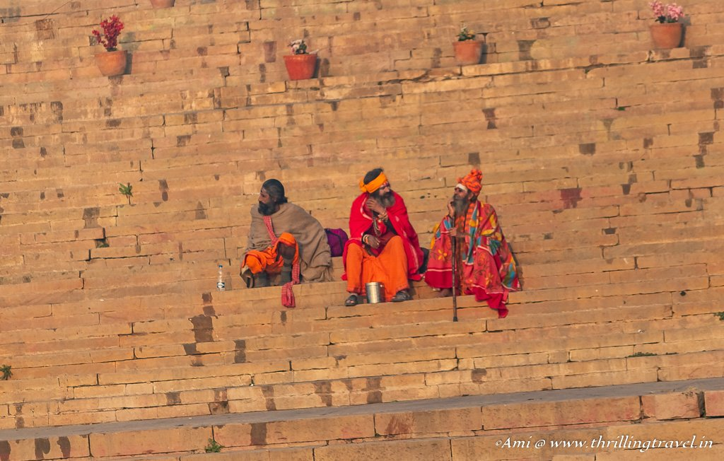 Sadhus on Varanasi Ghats