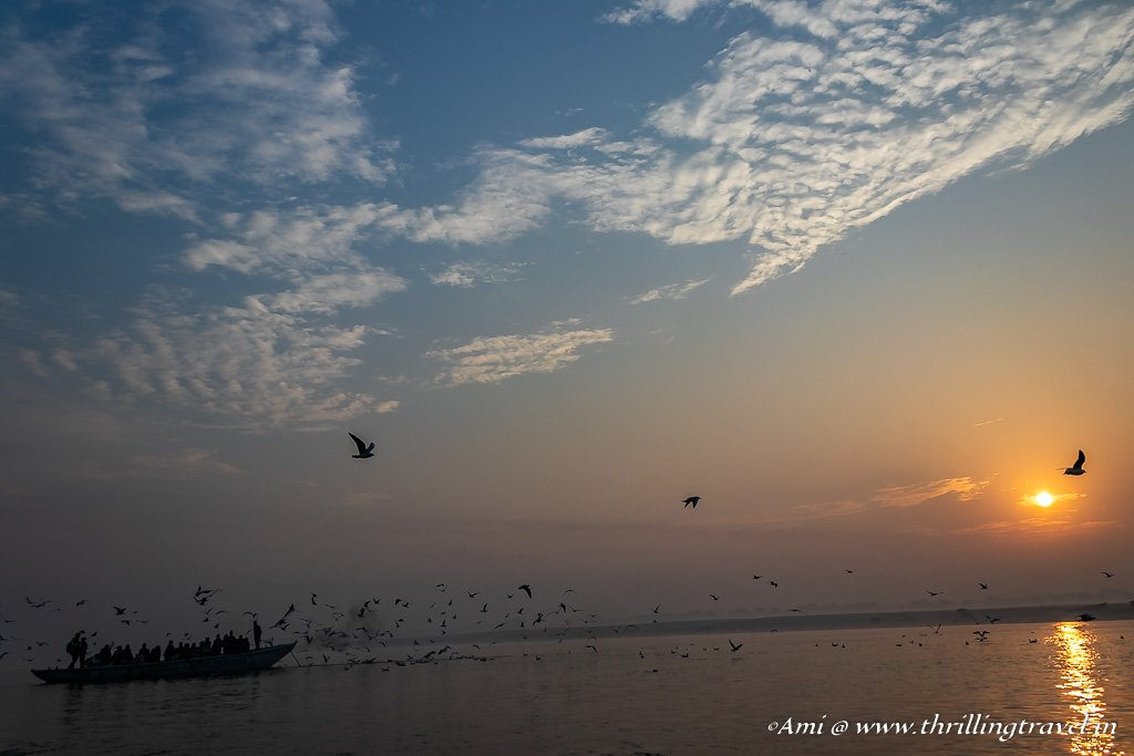 Sunrise over Ganga