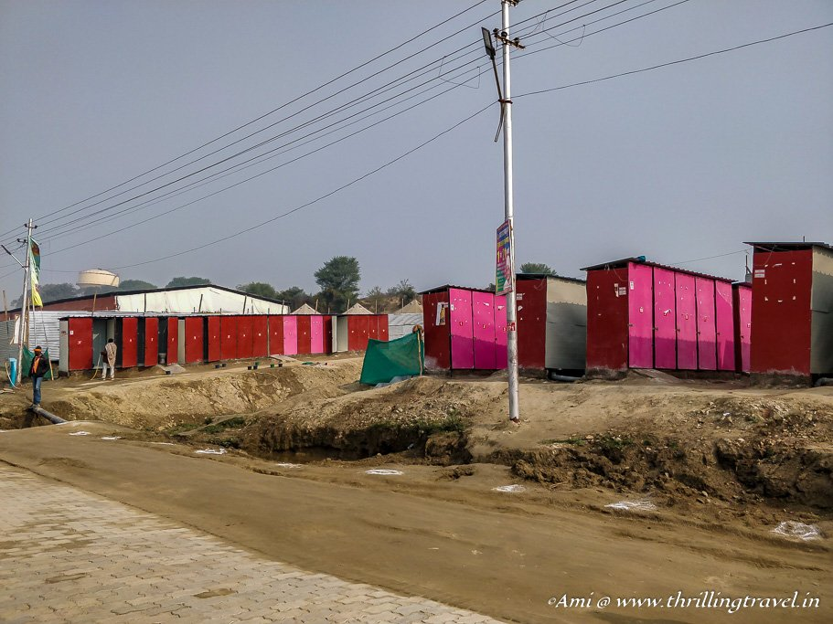 Mobile toilets at Kumbh Mela 2019