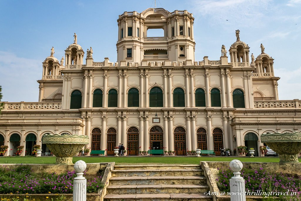 The front facade of Constantia at La Martiniere Lucknow