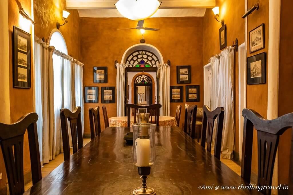 Dining room of Kotwara House